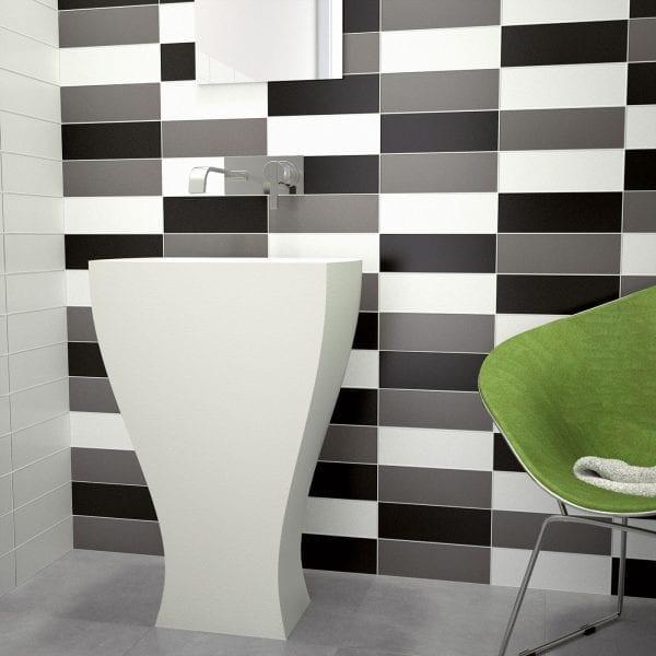 Azulejos de baños modernos Serie LISO 10X30