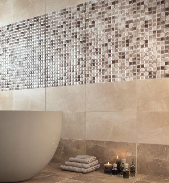 Serie harmony azulejos marmol para ba os formato 25x50 for Azulejos de marmol
