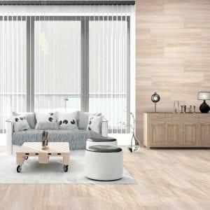 Serie BELAGA - azulejo de gres en pasta roja imitación madera