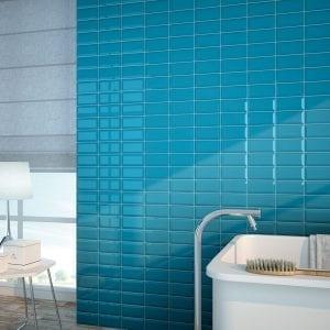 Azulejo tipo metro para baño