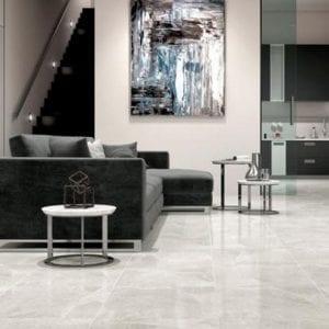 Pavimento imitación mármol CHELSEA GRIS 45X45 Brillo