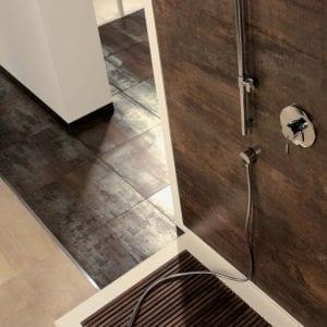 Azulejos marrones para baños Serie Corten , acabado metalico 30x60 - 60x60