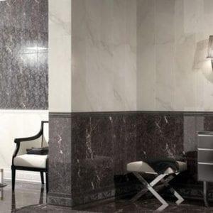 Pavimento imitación mármol DONNA BLANCO 45X45 Brillo
