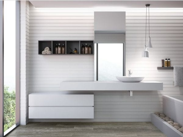 Serie Stryn - azulejo blanco para pared