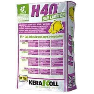 Cemento Cola Kerakoll - H40 NO LIMITS BLANCO