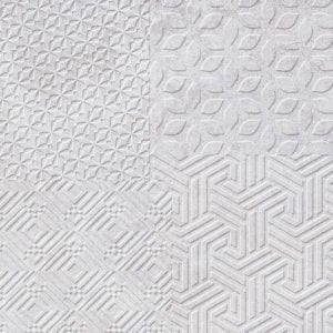 TEXTILE MATERIA WHITE 25X80