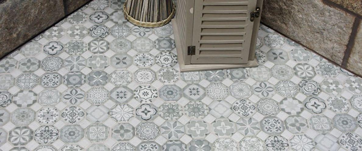 Azulejos serie tessera gres imitaci n a hidr ulico en for Porcelanico imitacion baldosa hidraulica