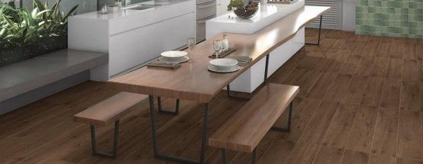 Porcelánico imitación madera BELFAST WALNUT 20X120 Rectificado