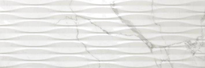 Revestimiento Pasta blanca imitación mármol RELIEVE SIGMA STATUARIO MATE 30X90 rectificado