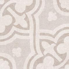 Porcelánico imitación hidráulico MATERIA DECOR LEILA IVORY 20X20 Mate