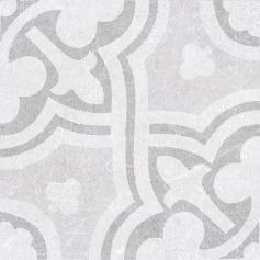 Porcelánico imitación hidráulico MATERIA DECOR LEILA WHITE 20X20 Mate