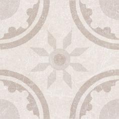 Porcelánico imitación hidráulico MATERIA DECOR RIM IVORY 20X20 Mate