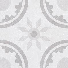 Porcelánico imitación hidráulico MATERIA DECOR RIM WHITE 20X20 Mate