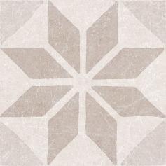 Porcelánico imitación hidráulico MATERIA DECOR STAR IVORY 20X20 Mate