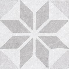 Porcelánico imitación hidráulico MATERIA DECOR STAR WHITE 20X20 Mate