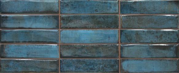 Revestimiento imitación hidráulico SMART MONTBLANC BLUE 20X50 Brillo