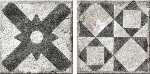 Porcelánico imitación hidráulico ANTIQUE DARK 15.4x15.4 Satinado