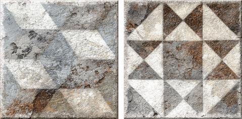 Porcelánico imitación hidráulico ANTIQUE GREY 15.4x15.4 Satinado