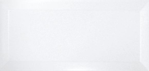 Azulejo metro biselado BLANCO BRILLO 10X20