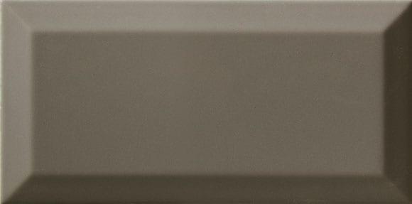 Azulejo metro biselado DARK GREY BRILLO 10X20