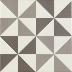 Pavimento imitación hidráulico ANTIGUA GRIS 004-Triangulo Damero 20X20 Mate