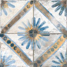 Pavimento imitación hidráulico FS MARRAKECH BLUE 45x45 Mate