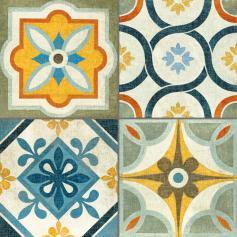 Porcelánico imitación mármol HERITAGE MULTI 45X45 Mate