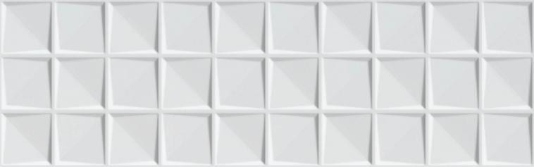 Revestimiento BLANCO BRILLO-RELIEVE DELICE 25x80