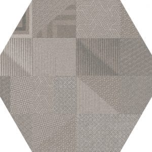 Hex 25 Atlanta Geo Grey Hexagonal Variedad 3 22×25