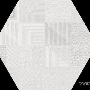Hex 25 Atlanta Geo White Hexagonal 22×25