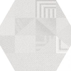 Hex 25 Atlanta Geo White Hexagonal Variedad 2 22×25