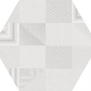 Hex 25 Atlanta Geo White Hexagonal Variedad 3 22×25