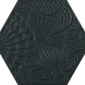 Guadi Black Hex 25 Hexagonal Variedad 1 22×25