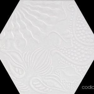 Guadi White Hex 25 Hexagonal 22×25