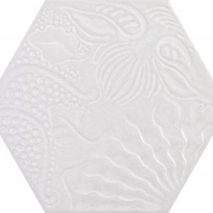 Guadi White Hex 25 Hexagonal Variedad 1 22×25