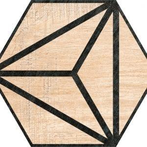 Hex 25 Tribeca Beige Hexagonal Variedad 3 22×25