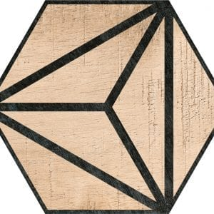 Hex 25 Tribeca Brown Hexagonal Variedad 2 22×25