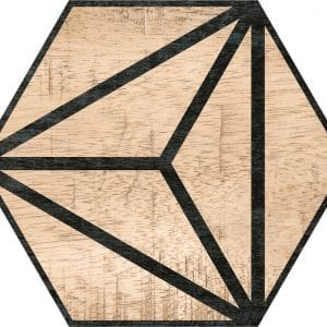 Hex 25 Tribeca Brown Hexagonal Variedad 3 22×25