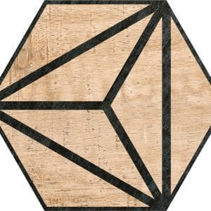 Hex 25 Tribeca Brown Hexagonal Variedad 4 22×25
