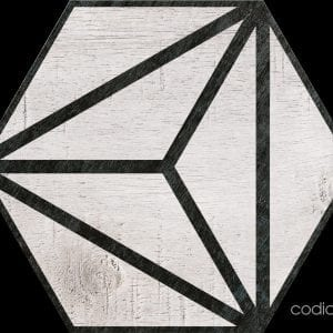 Hex 25 Tribeca Grey Hexagonal 22×25