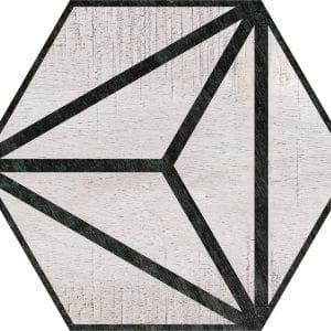 Hex 25 Tribeca Grey Hexagonal Variedad 1 22×25
