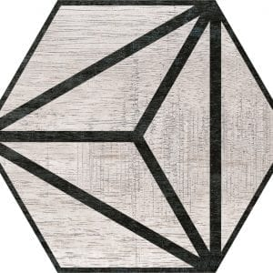 Hex 25 Tribeca Grey Hexagonal Variedad 2 22×25