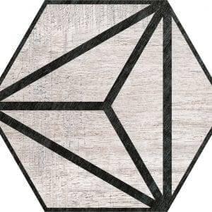 Hex 25 Tribeca Grey Hexagonal Variedad 3 22×25