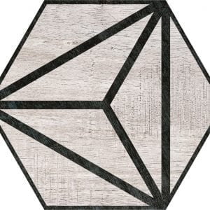 Hex 25 Tribeca Grey Hexagonal Variedad 4 22×25