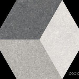 Traffic 3D Grey Hexagonal 22×25