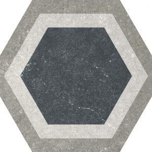 Traffic Combi Grey Mix Hexagonal Variedad 2 22×25