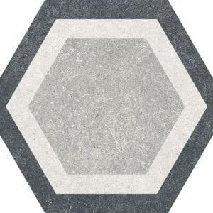 Traffic Combi Grey Mix Hexagonal Variedad 4 22×25