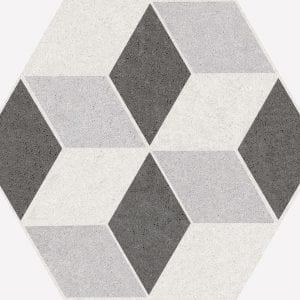 Vintage Mix Hexagonal Variedad 2 22×25