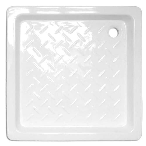 Plato de ducha cerámico cuadrado Blanco