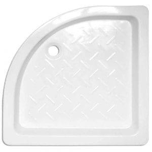 Plato de ducha cerámico angular Blanco